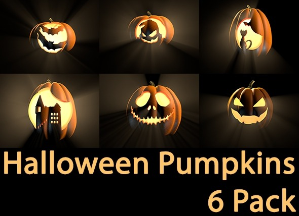 Pumpkins Pack for Halloween - 3DOcean Item for Sale