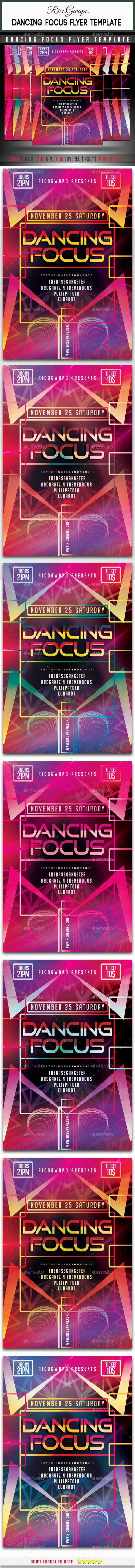GraphicRiver Dancing Focus Flyer Template 9206948