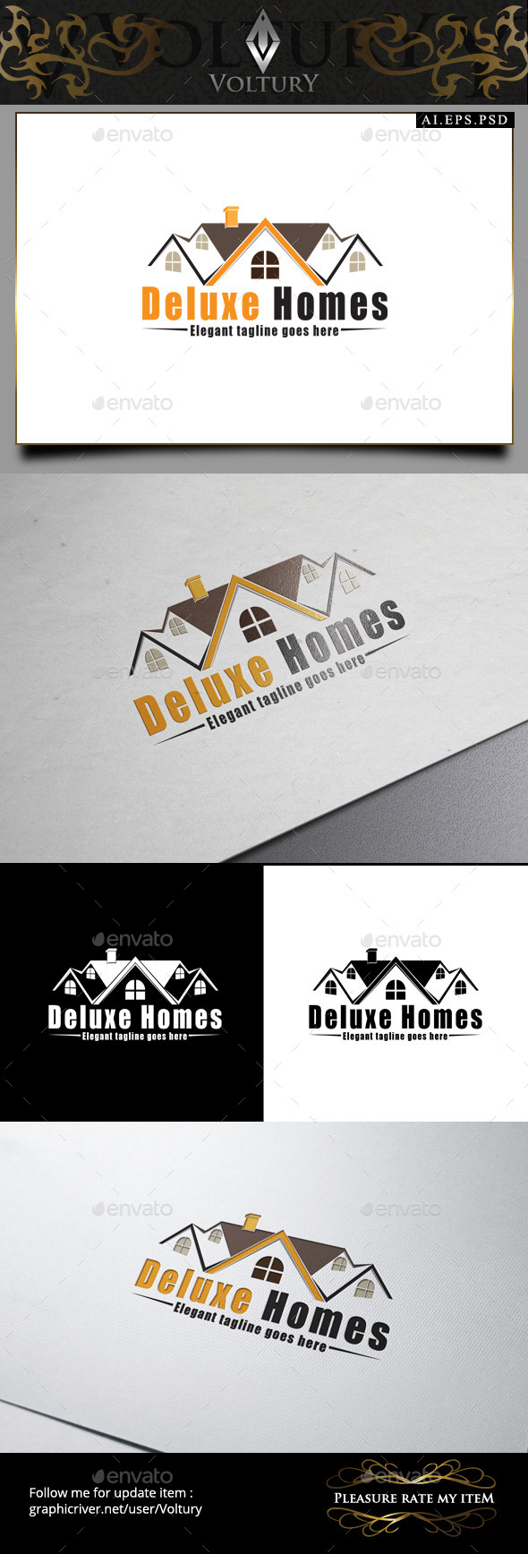 GraphicRiver Deluxe Homes Logo 9206958