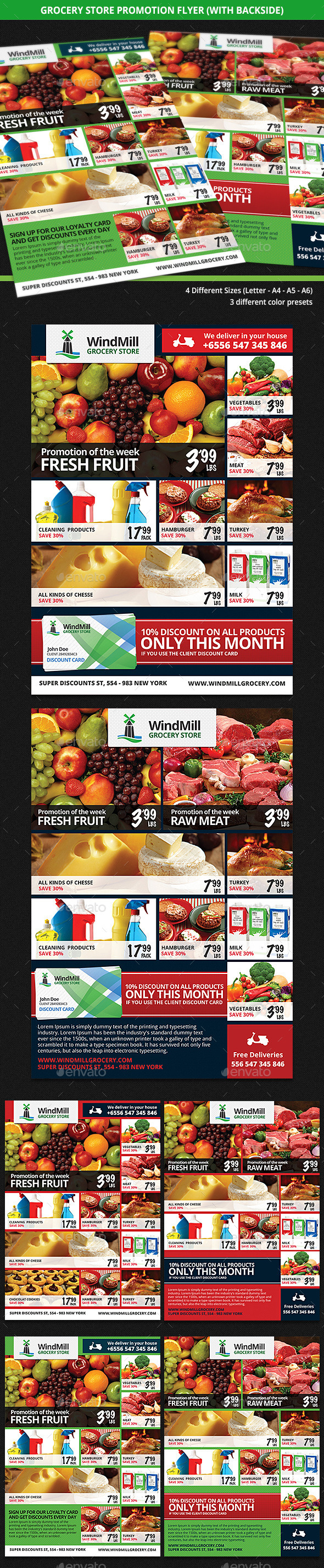 GraphicRiver Grocery Store Promotions Flyer 9206973