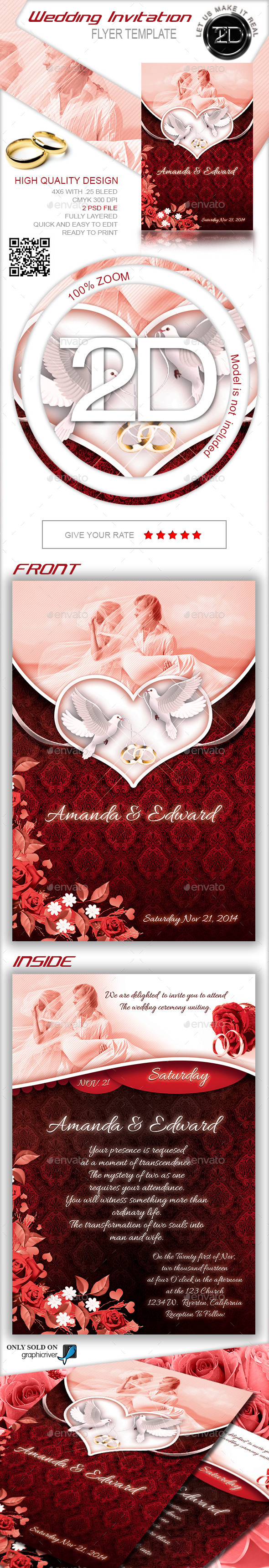 GraphicRiver Wedding Invitation 9207127