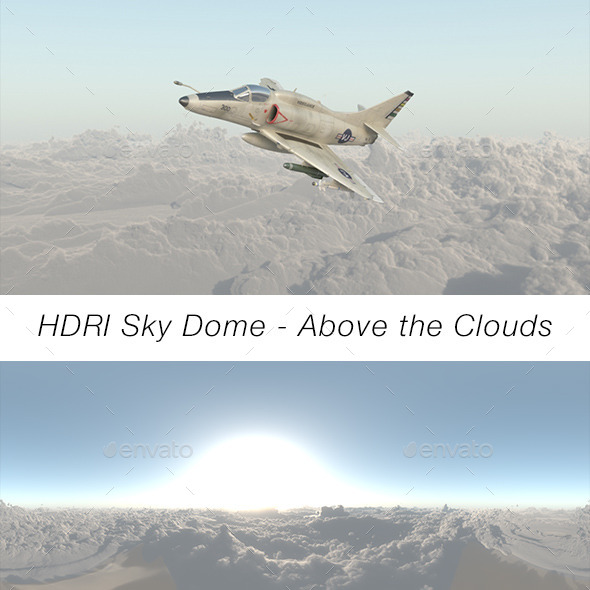 3DOcean HDRI Sky Dome Above The Clouds 9207137