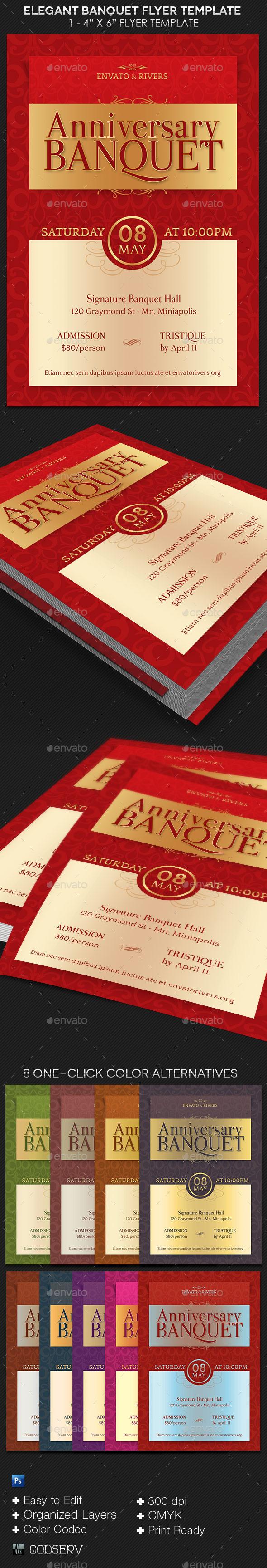 Elegant Banquet Flyer Template | GraphicRiver