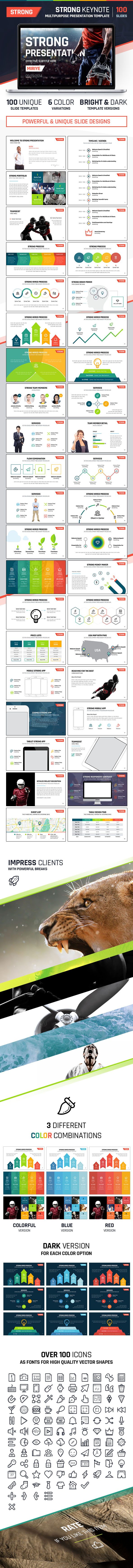 GraphicRiver Strong Keynote Multipurpose Presentation 9207290