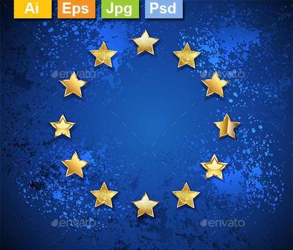 GraphicRiver Grungy European Union Symbol 9207343