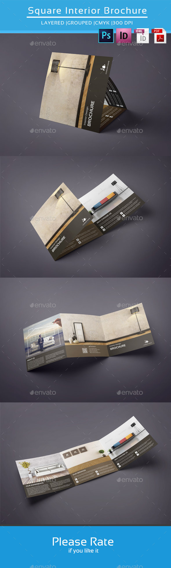 GraphicRiver Square Trifold for Interior Design-V42 9207551
