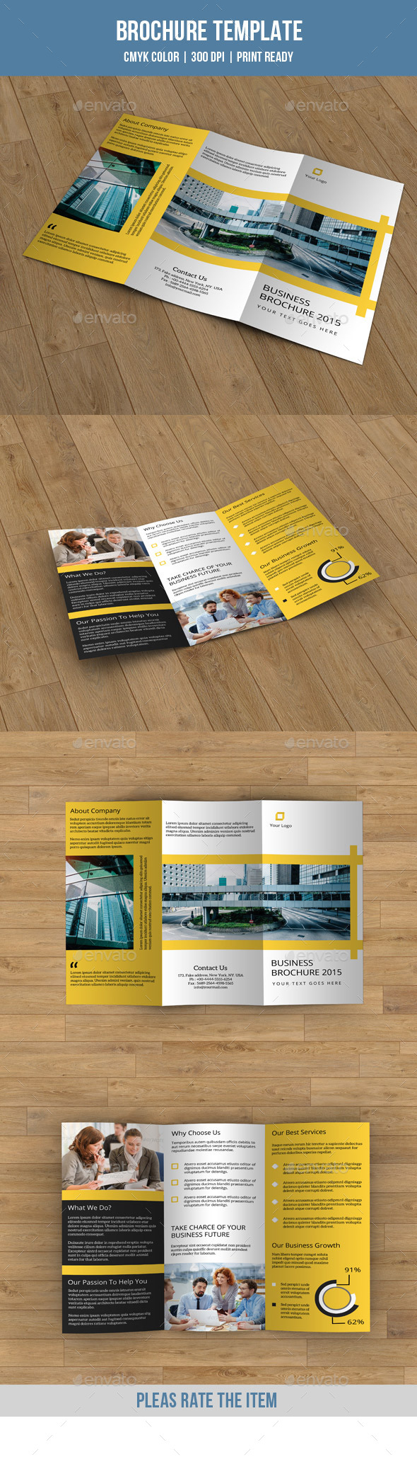 GraphicRiver Trifold Business Brochure-V175 9207565