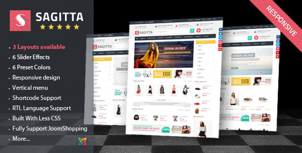 ThemeForest Vina Sagitta Responsive Joomla E-Commerce Template 9136376