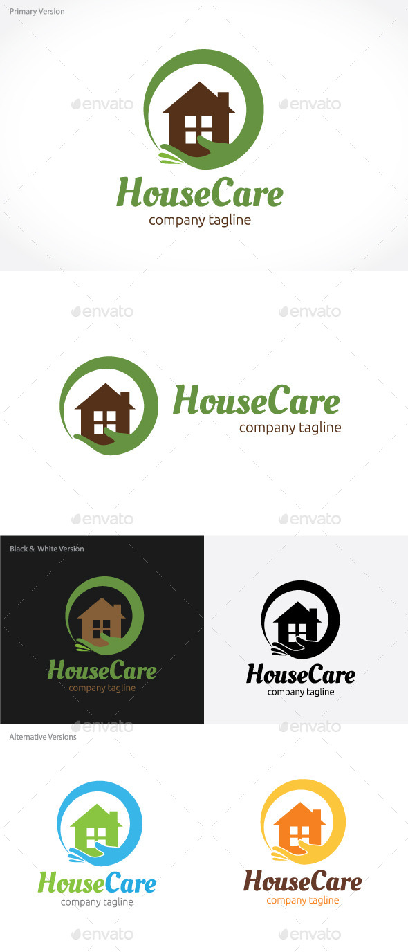 GraphicRiver House Care Logo 9207736