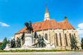 Cluj-Napoca, Romania. Church of Saint Michael is a Gothic-style