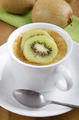 creme brulee with kiwi in a cup - PhotoDune Item for Sale