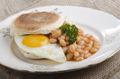irish breakfast muffin on a plate - PhotoDune Item for Sale