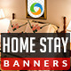 Home Stay Banner Design Set - GraphicRiver Item for Sale