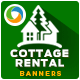 Cottage for Rent Banners - GraphicRiver Item for Sale