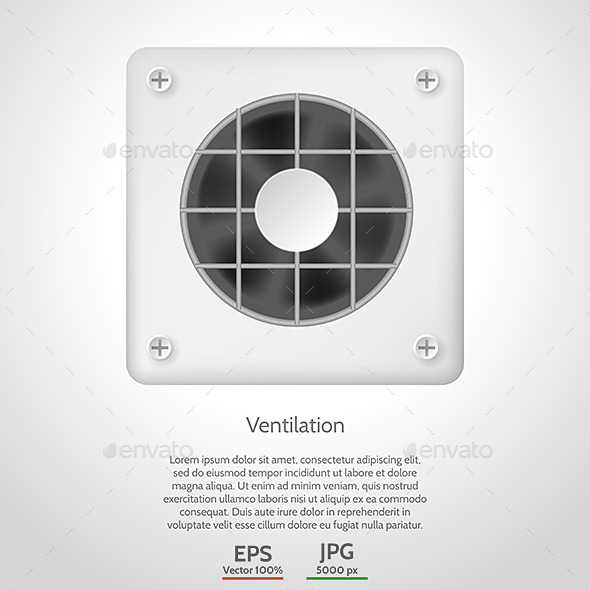 GraphicRiver Vector Illustration of Gray Ventilation 9208305