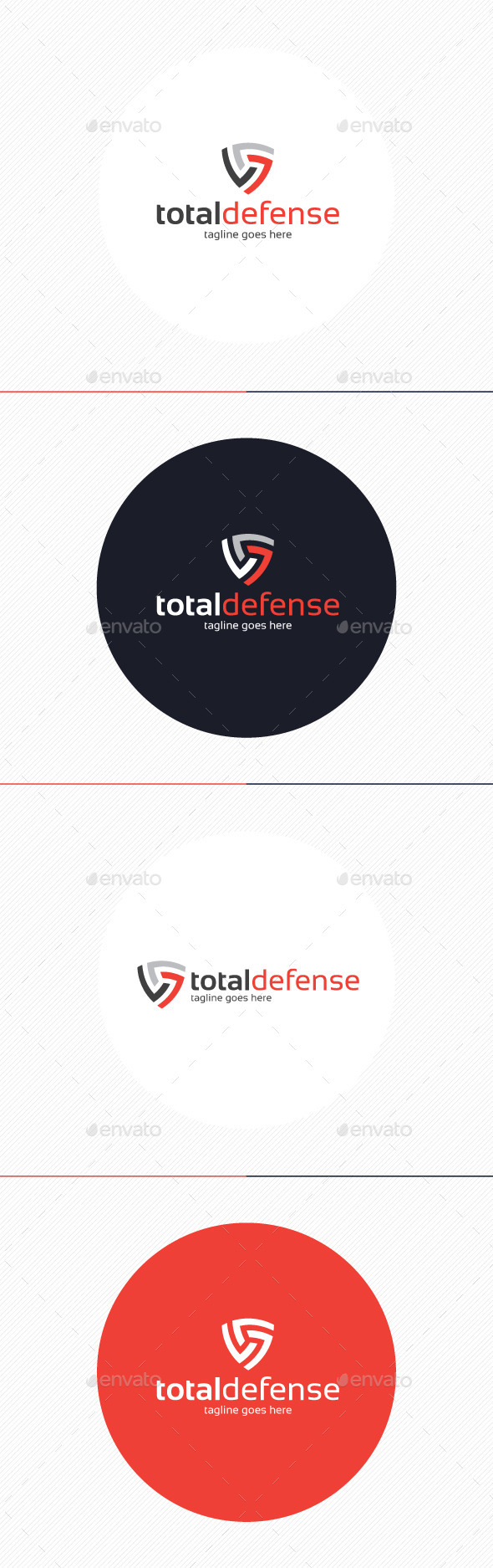 GraphicRiver Total Defense Logo 9208332