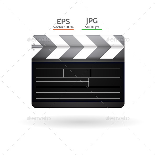 GraphicRiver Vector Illustration of Clapboard 9208355