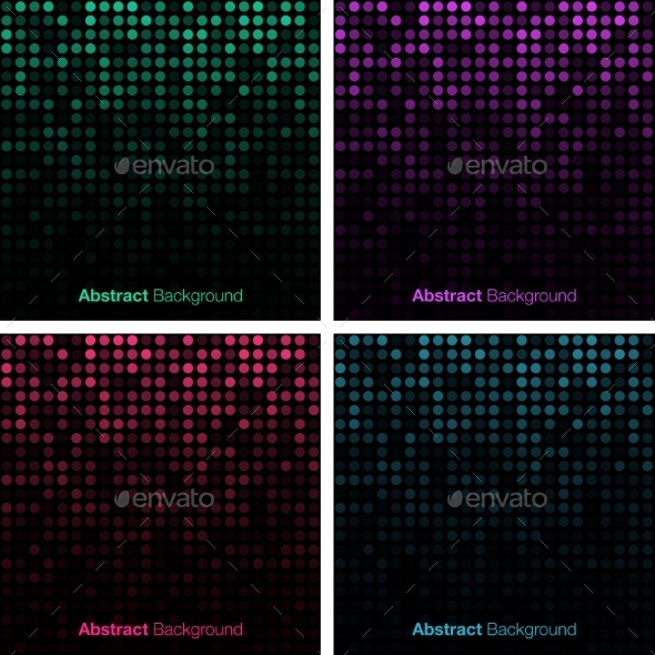 GraphicRiver Set of Abstract Technology Backgrounds 9208400