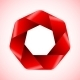 Abstract Red Polygon Icon. - GraphicRiver Item for Sale