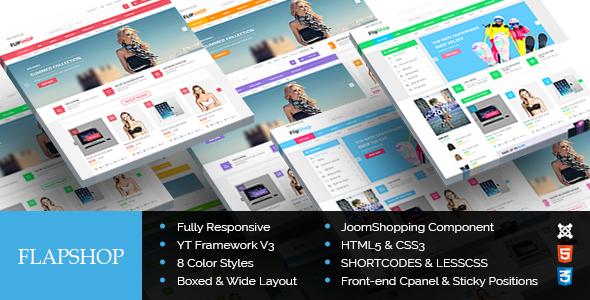 ThemeForest FlapShop Responsive Ecommerce Joomla Theme 9152991
