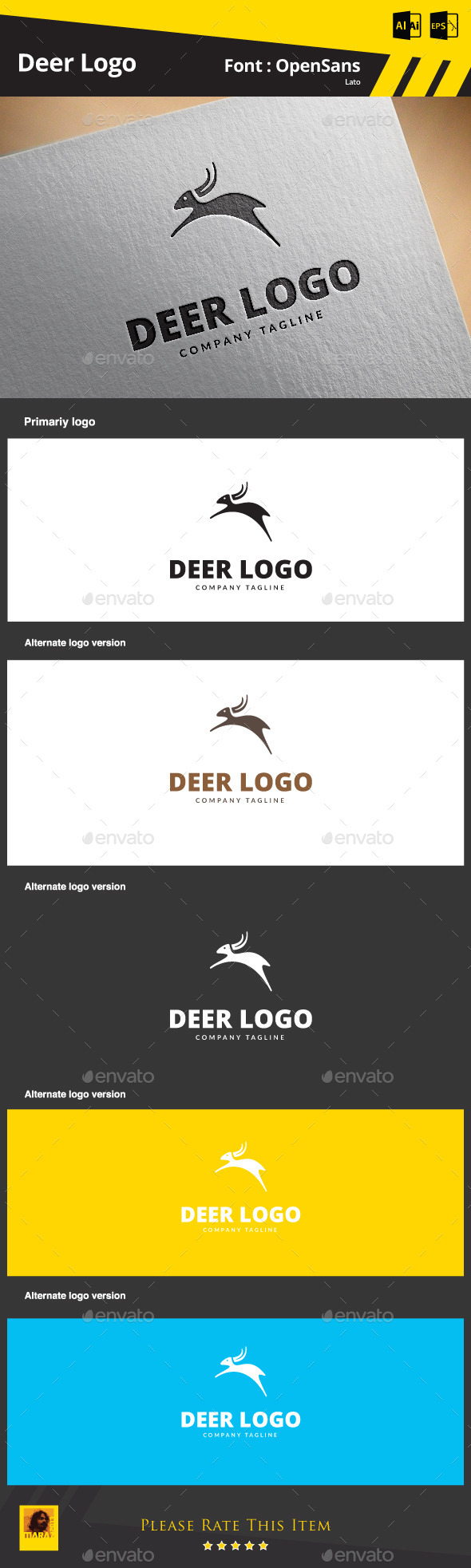 GraphicRiver Deer Logo 9195980