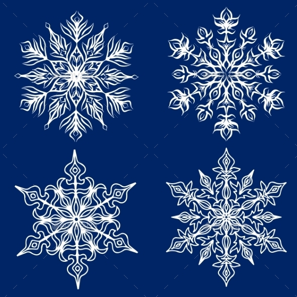 GraphicRiver Snowflakes Set 9208597