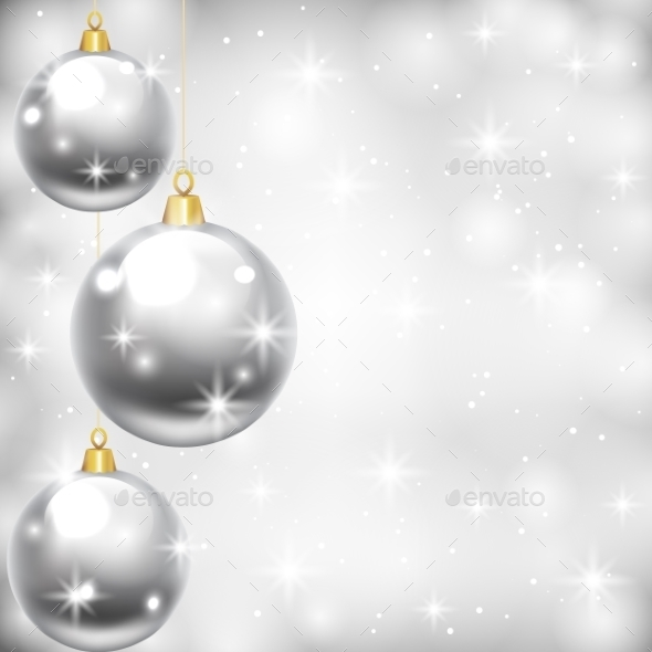 GraphicRiver Silver Baubles 9208600