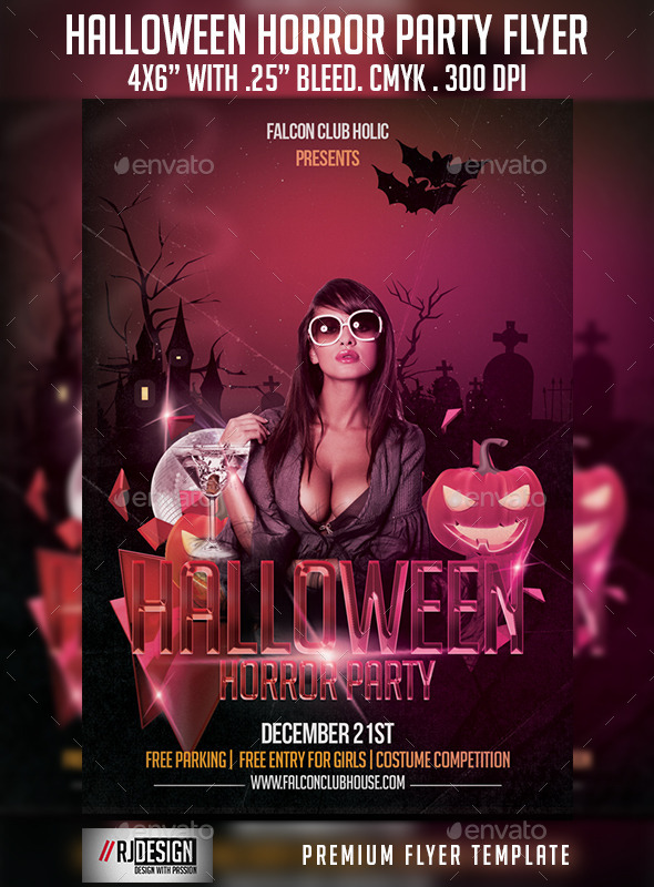 GraphicRiver Halloween Horror Party Flyer 9208614