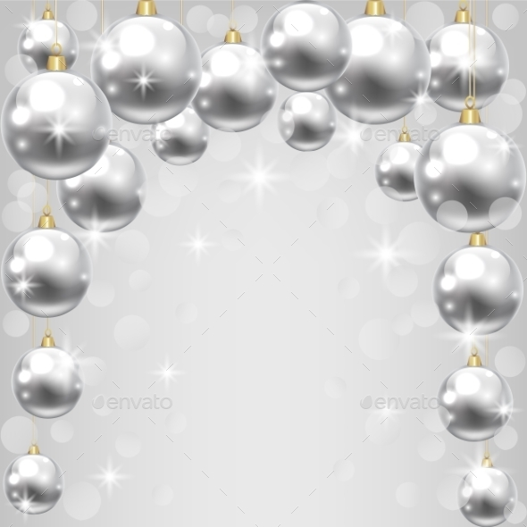 GraphicRiver Silver Baubles 9208627