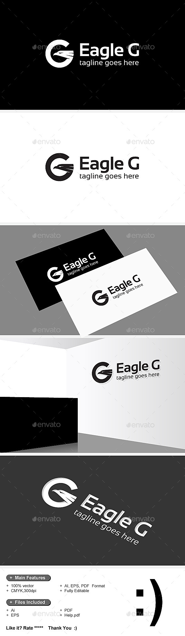 GraphicRiver Eagle & G Letter Logo 9208644