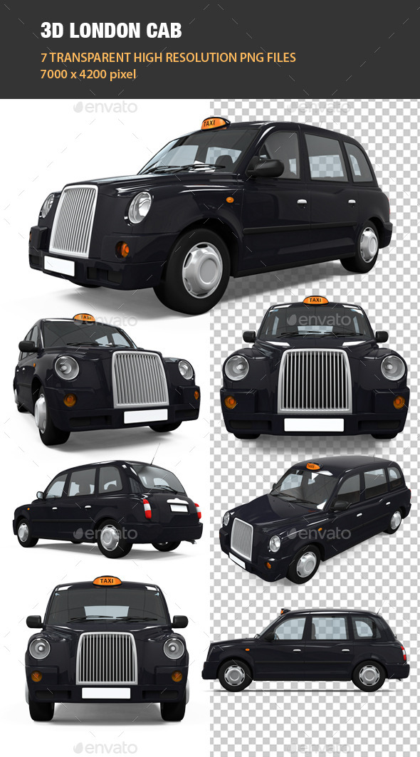 GraphicRiver 3D London Cab 9208650
