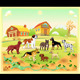Landscape with Group of Dogs - GraphicRiver Item for Sale