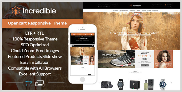ThemeForest Incredible Opencart Responsive Theme 9154265