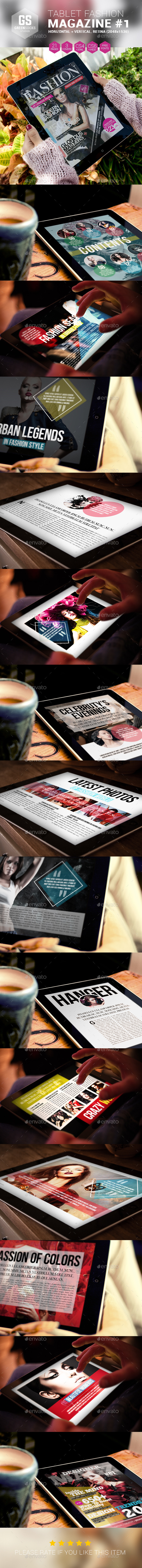 GraphicRiver Tablet Fashion Magazine 9208823