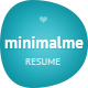 MinimalMe - Minimal HTML CV / Resume Template - ThemeForest Item for Sale