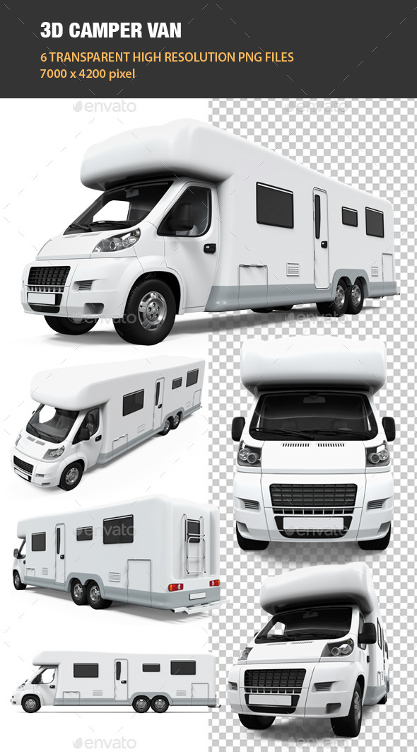 GraphicRiver 3D Camper Van 9209187