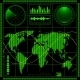 Radar Screen with World Map - GraphicRiver Item for Sale