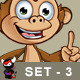Cheeky Monkey Character - Set 3 - GraphicRiver Item for Sale