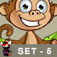 Cheeky Monkey Character - Set 5 - GraphicRiver Item for Sale
