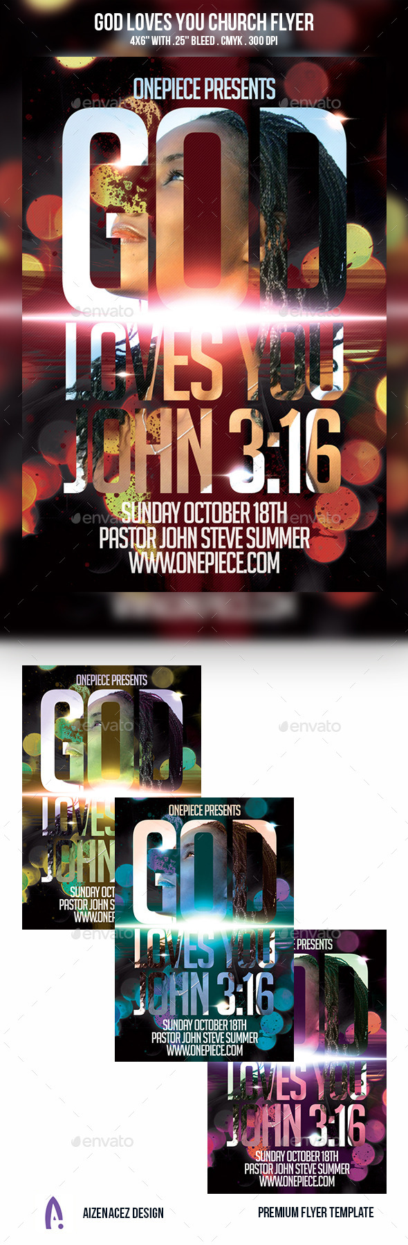 GraphicRiver God Loves You Church Flyer 9209405