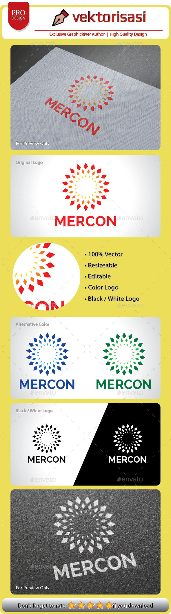 GraphicRiver Mercon Logo 9209578