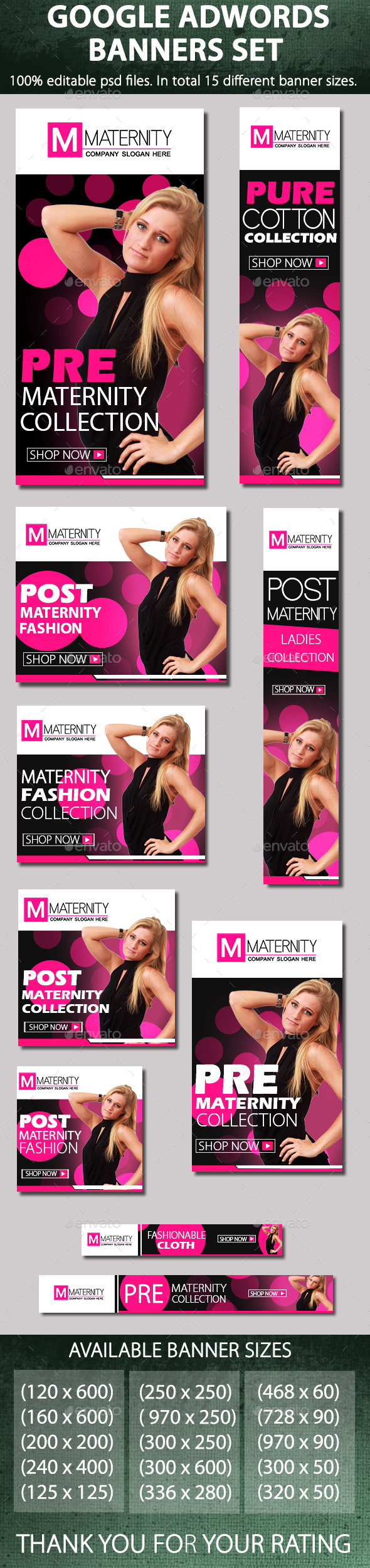 GraphicRiver Maternity & fashion banners 9165233