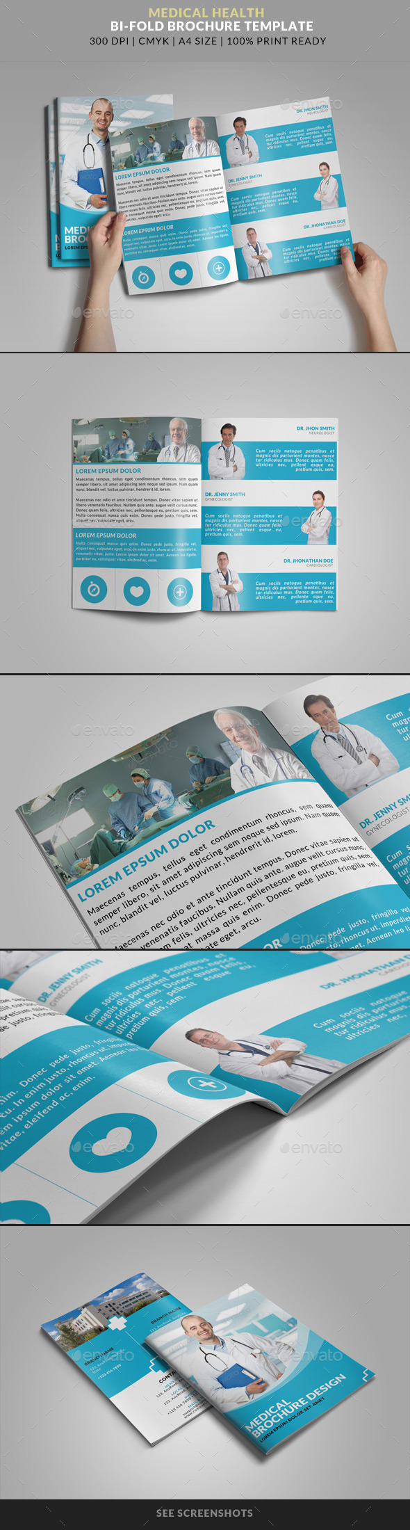 GraphicRiver Medical Health Doctor Hospital Bifold Brochure 8728992