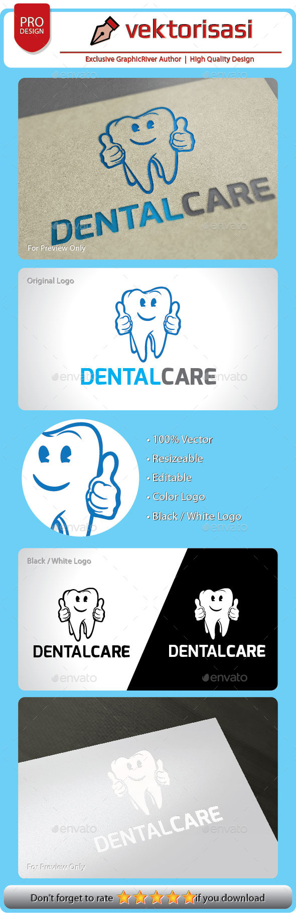 GraphicRiver Dental Care Logo 9209809