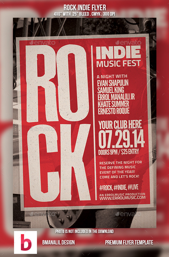 GraphicRiver Rock Indie Flyer 9209840