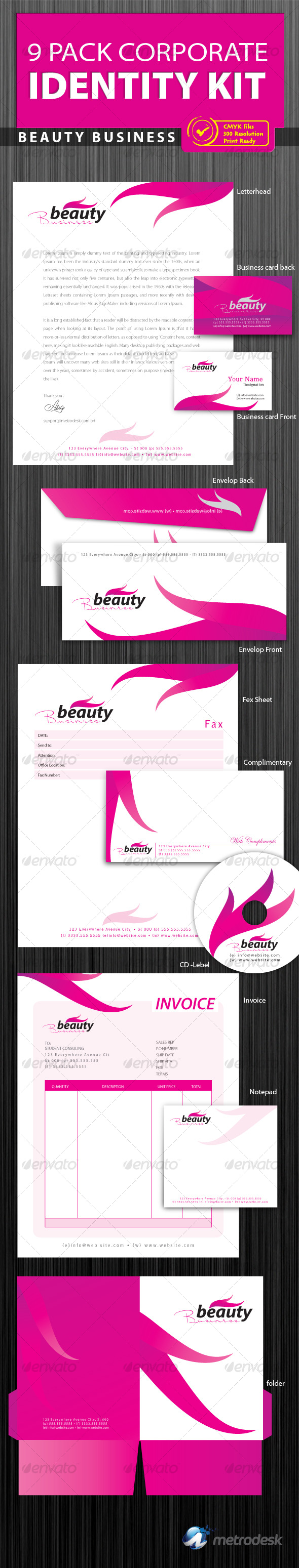 GraphicRiver Corporate Identity 9 pack [Print Ready] 118616