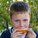Young Boy Eating Healthy Melon - VideoHive Item for Sale