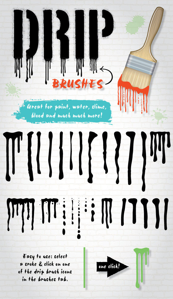 GraphicRiver Drip Brushes 9209872