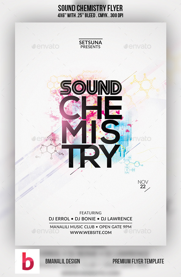 GraphicRiver Sound Chemistry Flyer 9209943