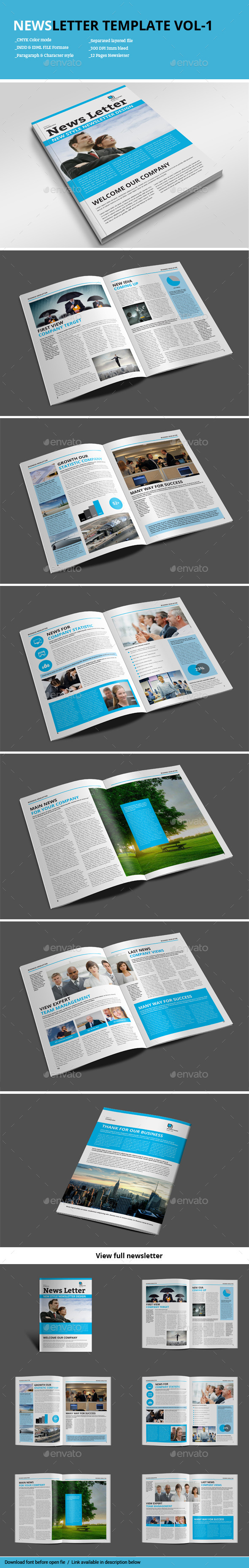 GraphicRiver Newsletter Template Vol-1 9209951
